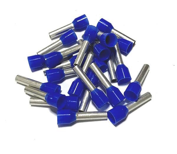 Dutinka izolovaná, průřez 2,5mm2 / délka 10mm, modrá