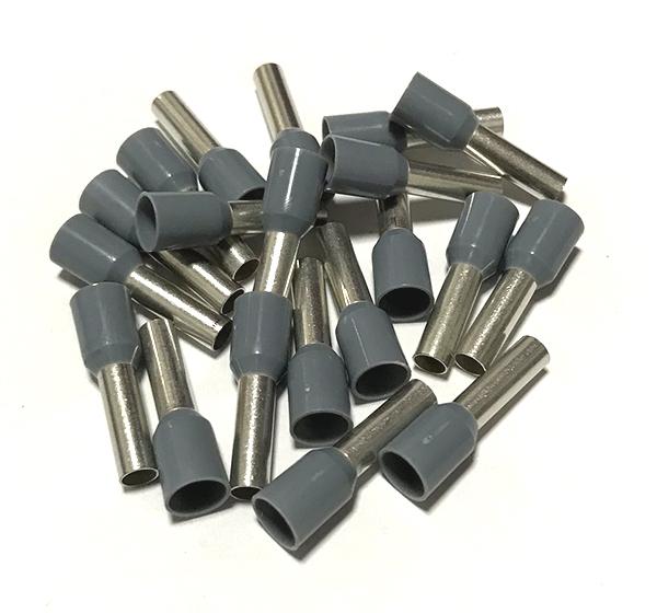 Dutinka izolovaná, průřez 4,0mm2 / délka 10mm, šedá