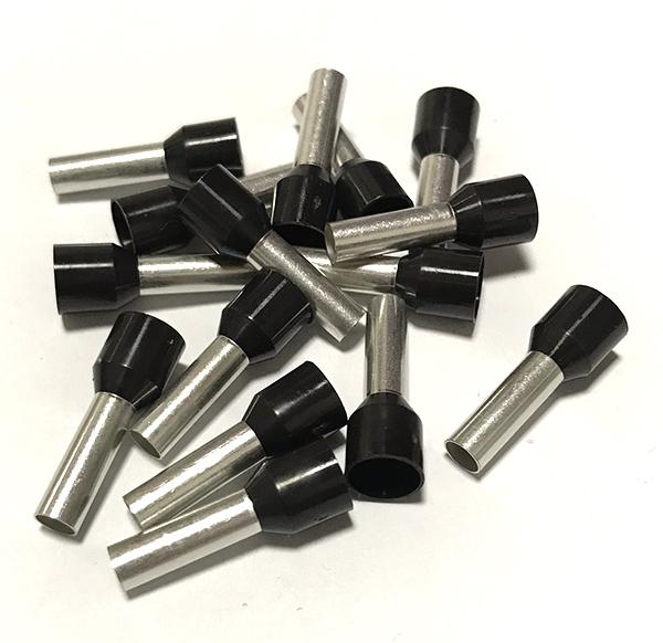 Dutinka izolovaná, průřez 6,0mm2 / délka 12mm, černá
