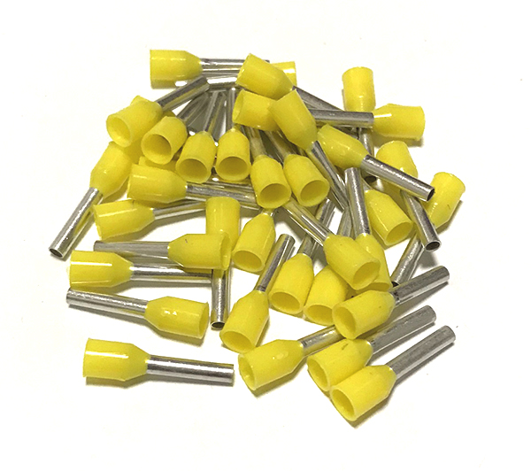 Dutinka izolovaná, průřez 1,0mm2 / délka 12mm, žlutá