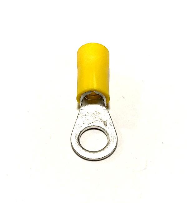 Oko izolované, průřez 4-6mm2 / M4 / šíře 9,5mm, izolace PVC