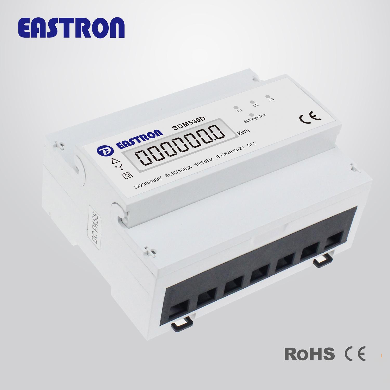 Elektroměr na DIN lištu třífázový digitální SDM530D 1-tarif