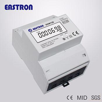 Elektroměr na DIN lištu třífázový digitální SDM72D