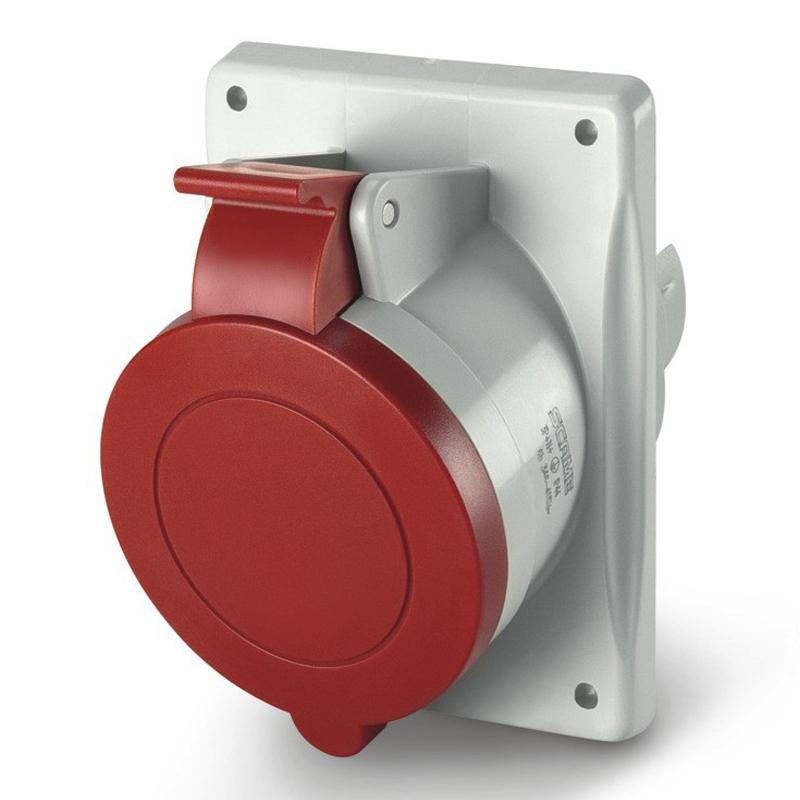 Zásuvka vestavná OPTIMA, šikmá - 3P+E, 32A, 6h/380-415 V, 50/60 Hz, IP44