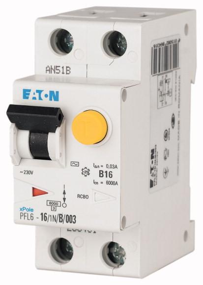 Chránič s nadproudovou ochranou Eaton PFL6-10/1N/B/003 286429