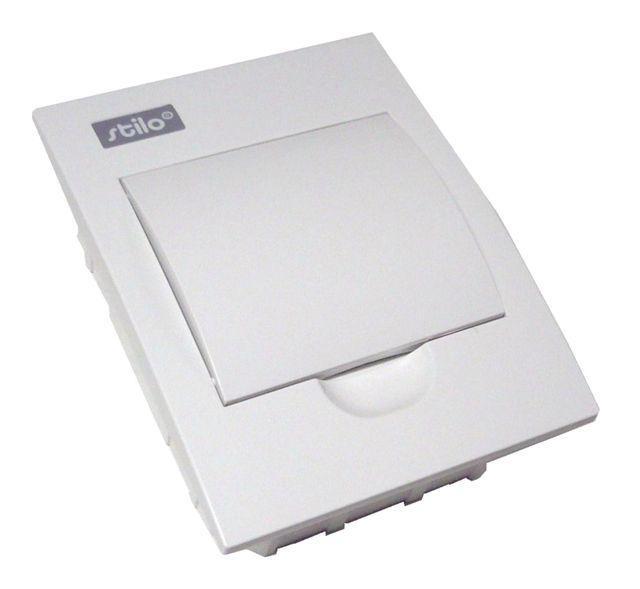 Zápustnný rozvaděč - bílé dvířka Stilo STI460-6 SEZ
