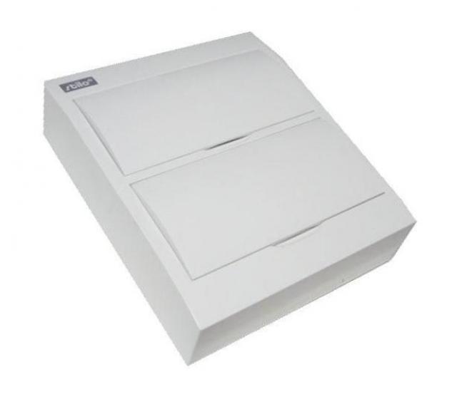 Nástěnný rozvaděč - bílé dvířka STI471-24 SEZ