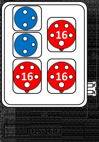 ROS 1603 Zásuvková rozvodnice 16A IP44 SEZ