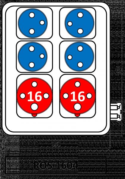 ROS 1604 Zásuvková rozvodnice 16A IP44 SEZ