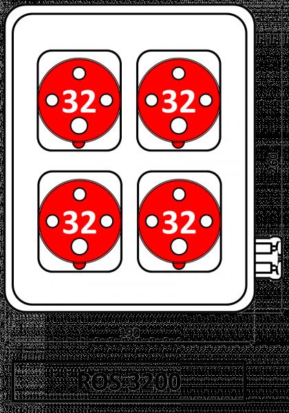 ROS 3200 Zásuvková rozvodnice 32A IP44 SEZ