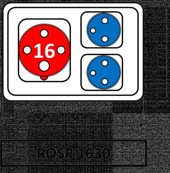 ROSP 1630 Zásuvková rozvodnice Praktik 16A IP54 SEZ