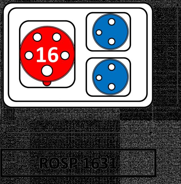 ROSP 1631 Zásuvková rozvodnice Praktik 16A IP54 SEZ