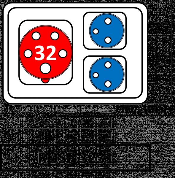 ROSP 3231 Zásuvková rozvodnice Praktik 32A IP54 SEZ