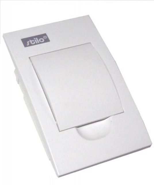 Zápustnný rozvaděč - bílé dvířka Stilo STI459-4 SEZ