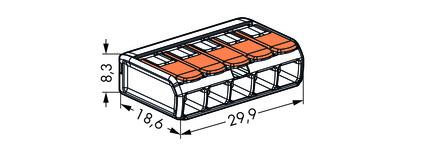 Wago svorka bezšroubová s páčkou - 5 vodičů 221-415